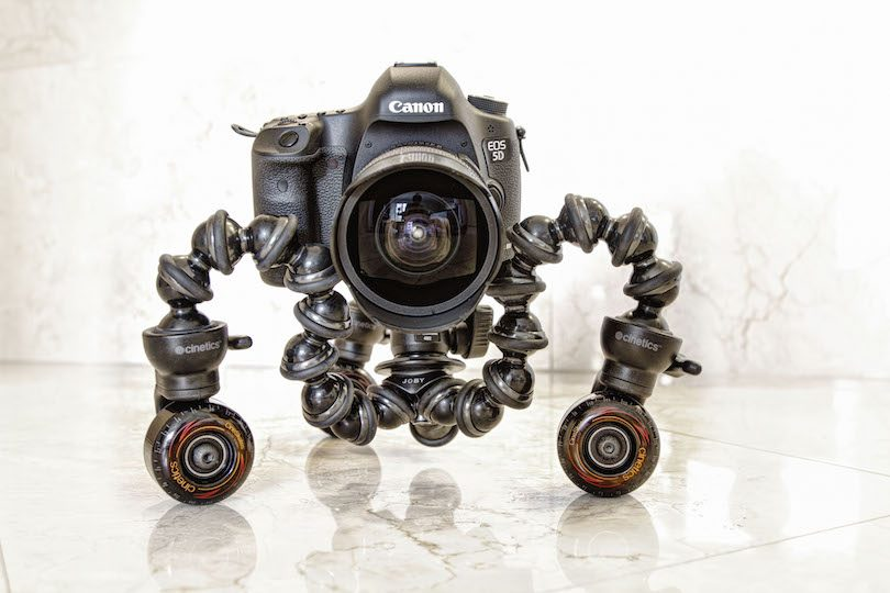 """CineSkates Camera Dolly"" by Onyxls1 - Own work. Licensed under CC BY-SA 3.0 via Wikimedia Commons - http://commons.wikimedia.org/wiki/File:CineSkates_Camera_Dolly.jpg#mediaviewer/File:CineSkates_Camera_Dolly.jpg"
